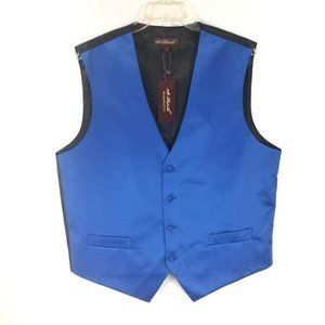 St. Patrick Men's Royal Blue Vest with Pockets